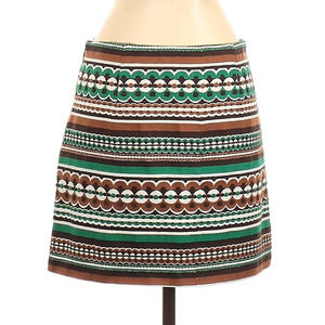 MILLY New York Embroidered Mod 70s Skirt Mini 2